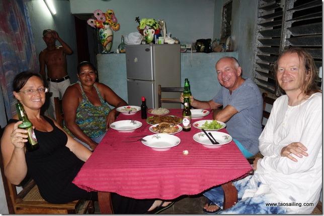 Diner chez Georje et sa famille