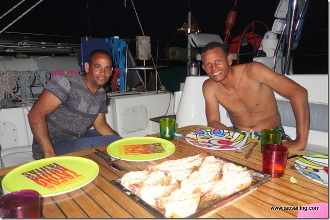 Langioustes et rhum au menu avec nos amis pêcheurs