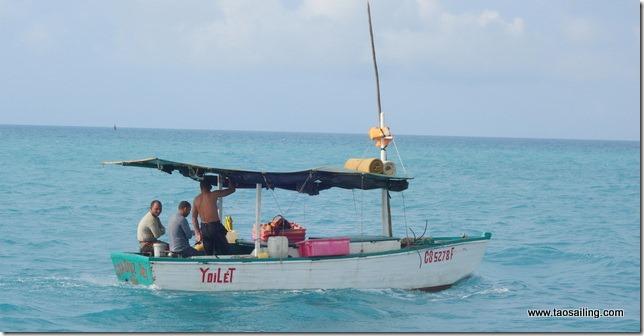 Nous suivons Yoilet jusqu'au lieu de pêche
