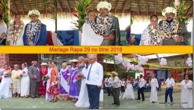 Mariage Rapa 29 no titirei 2018